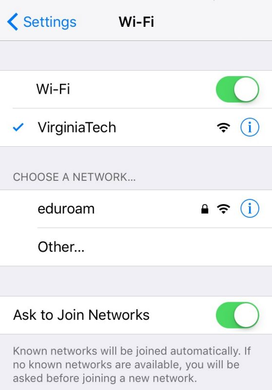 Wireless Network | Student Network Services | Virginia Tech